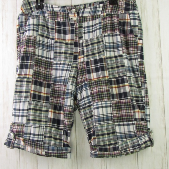 Cambridge Dry Goods Patch Checkered Shorts 12